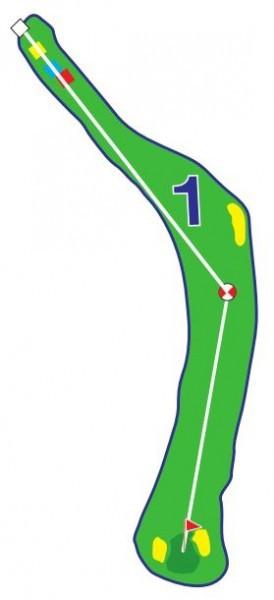 Chevreuils - Trou 1 - Plan